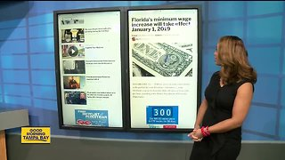 Florida's minimum wage increase will take effect January 1, 2019