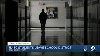 5,450 students leave Palm Beach County schools