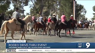 Drive-thru event in support of annual Tucson Rodeo Parade Mar. 20
