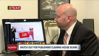 Watch out for Publishers Clearing House Scams