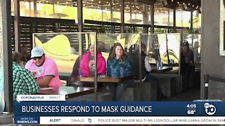 San Diego businesses respond to new mask guidance