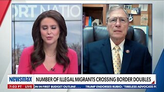 NUMBER OF ILLEGAL MIGRANTS CROSSING BORDER DOUBLES