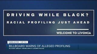 Billboard warns of alleged racial profiling in Livonia