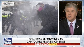 Hannity condemns Capitol violence, defends peaceful rallygoers