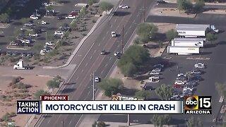 Motorcyclist killed in crash