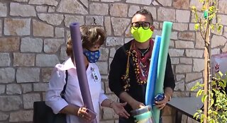 Vegas professor making, donating masks to healthcare workers