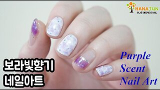 Purple Scent Nail Art