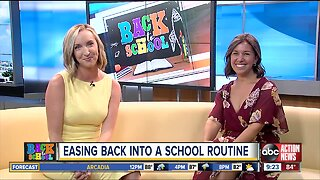 Easing your child back into school routine