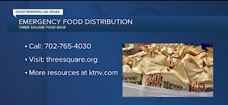 Emergency food distribution from Three Square Food Bank
