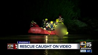 Man rescued from water near 27th Avenue and Broadway Road