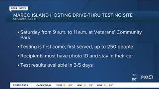 Marco Island host drive thru COVID-19 testing