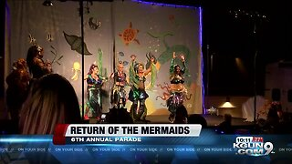 Monsoon storms bring mermaids to 4th Avenue, Downtown Tucson