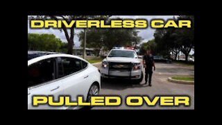 Police Pull Over Driverless Tesla Model 3 Autopilot