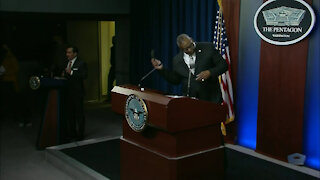 Secretary of Defense Briefs the Media
