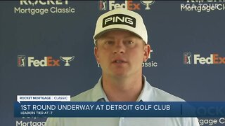 Rickie Fowler, Webb Simpson, Nate Lashley talk after Rocket Mortgage Classic first round