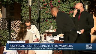 Valley restaurant owners struggling to fill positions as restrictions ease