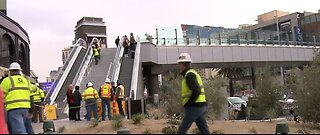 New pedestrian bridge opens on Las Vegas Strip