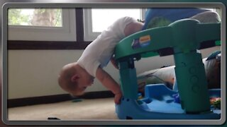 Funny Fails baby video clips cute baby fall down video