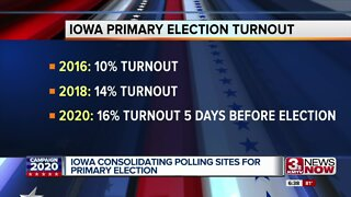 Iowa consolidating polling sites for primary election