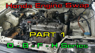 Removing a Engine from a Civic Wagon Part 1