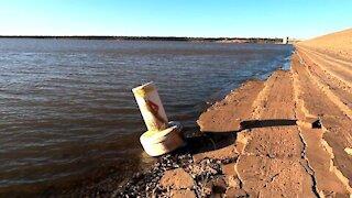 Mystery Lake Buoy floats Ashore