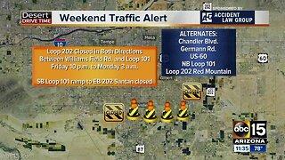 Weekend Traffic Alert, May 10-13