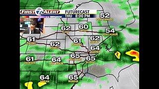 Rain returns Wednesday & Thursday
