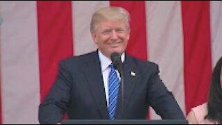 President Donald Trump Speech Today At Arlington National Cemetery