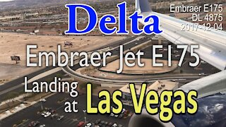 [Rare] Embraer E175 Jet from Delta Landing Las Vegas