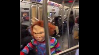 """""""Chucky"""" Terrorizes NYC Subway"""