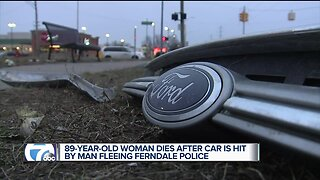 89-year-old woman dies after car is hit by man fleeing Ferndale police