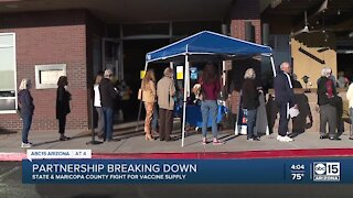 State and Maricopa County fight for vaccine supply