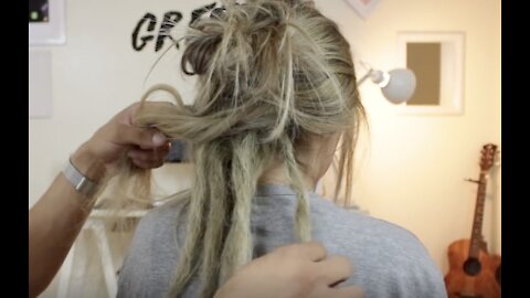 How To Make Dreads With Straight Hair!