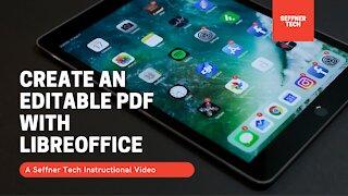 Create an Editable PDF with LibreOffice