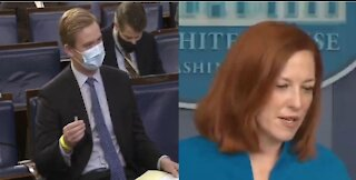 Psaki CONFRONTED for Never Letting Biden Take Questions from Fox
