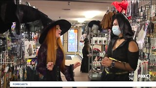 Last minute costume shopping at Red Headed Witches