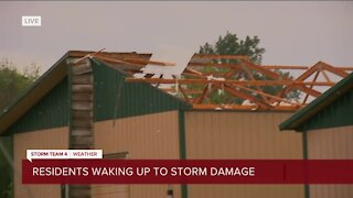 Storm damage in Concord, WI