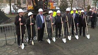Bedrock breaks ground on Monroe Blocks project in downtown Detroit
