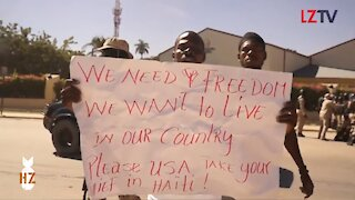 Haitians Wants Their Freedom from the US Embassy
