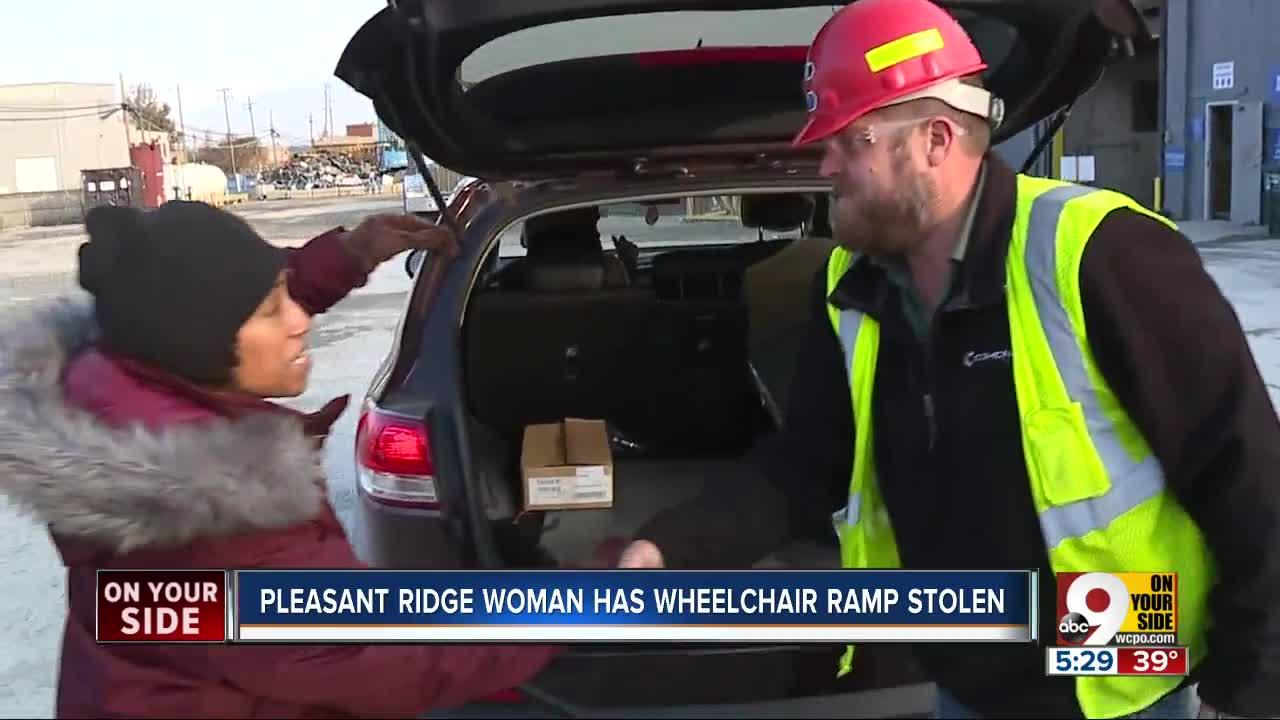 WCPO helps recover stolen wheelchair ramp