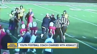 Coach arrested at youth football game