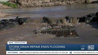 Storm drain repair ends flooding