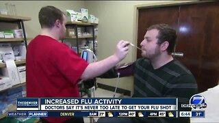 Increased flu activity this season