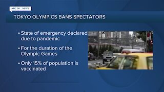 Fans banned from Tokyo Olympics