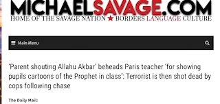 MichaelSavage.com - Paris Teacher Beheaded