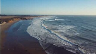 Drone filmer fantastisk kiting i California