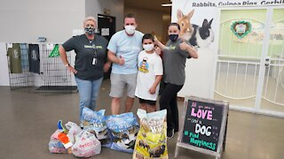 Young entrepreneur supporting shelter animals donates to Nevada SPCA