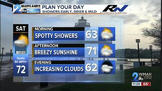 Spotty Showers This Easter Weekend