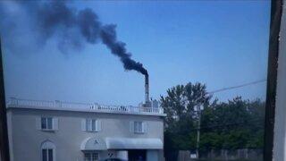 Smoke, ash coming from crematory
