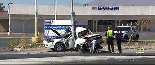 Driver critically hurt in crash in Las Vegas valley